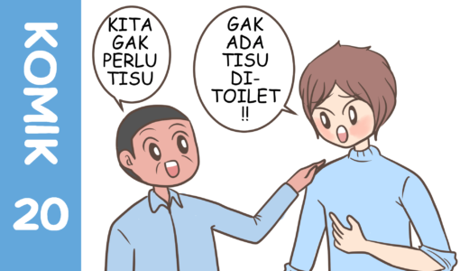 【Komiknya Ke-20】Cara menggunakan toilet tradisional Indonesia.(インドネシアの伝統的なトイレの使い方)