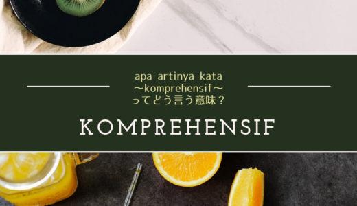 【上級問題ke-29】「Komprehensif」の意味を~イマ~知ろう!