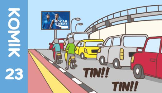 【Komiknya Ke-23】Kok jalan Jakartanya selalu macet?(なんでジャカルタの道はいつも渋滞?)