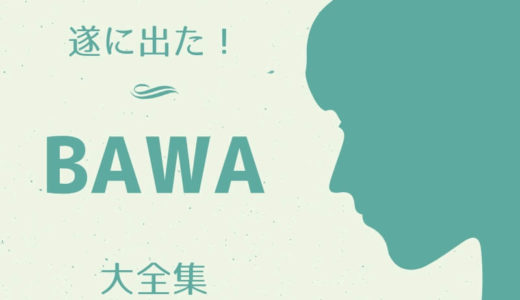 遂に出たぜ!「Bawa」大全集(100人に1人興味がある話?でも重要!)