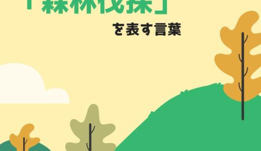【上級問題ke-35】「森林伐採」って単語をPe-Anを使ったフレーズで言うと?