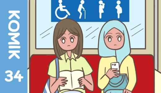 【Komiknya Ke-34】Di negara mana ada Orang yang gak mengikuti peraturan.(どこの国にもいるルールに従わない人)