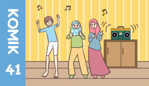 【Komiknya Ke-41】Suka Dangdut? Semuanya yuk joget! (ダンドゥットはお好きですか?)