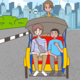 【Komiknya Ke-74】Asiknya Naik Becak(ベチャに乗るのは楽しいぜ!)