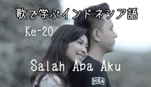 【歌で学ぶインドネシア語】Lagu ke-20 Salah Apa Aku