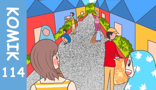 【Komiknya Ke-114】Warga Antusias Kerja Bakti untuk Membersihkan Lingkungan