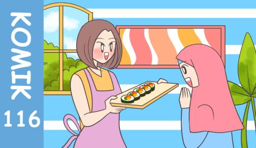 【Komiknya Ke-116】 Masak sushi HALAL
