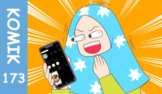 【Komiknya Ke-173】 Sudahkah kamu coba fitur baru instagram?(インスタの新機能はもう試した?)